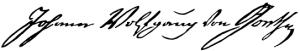 Goethe Unterschrift